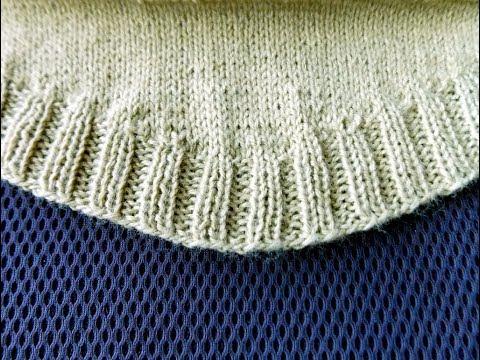 Как связать полукруглый низ на свитере спицами