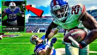 TOTW LeSean McCoy DOMINATES WEEKEND LEAGUE QUALIFYING! MADDEN NFL 18 GAMEPLAY