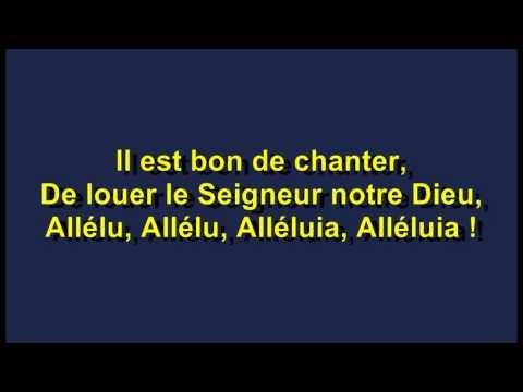 IL EST BON DE CHANTER R