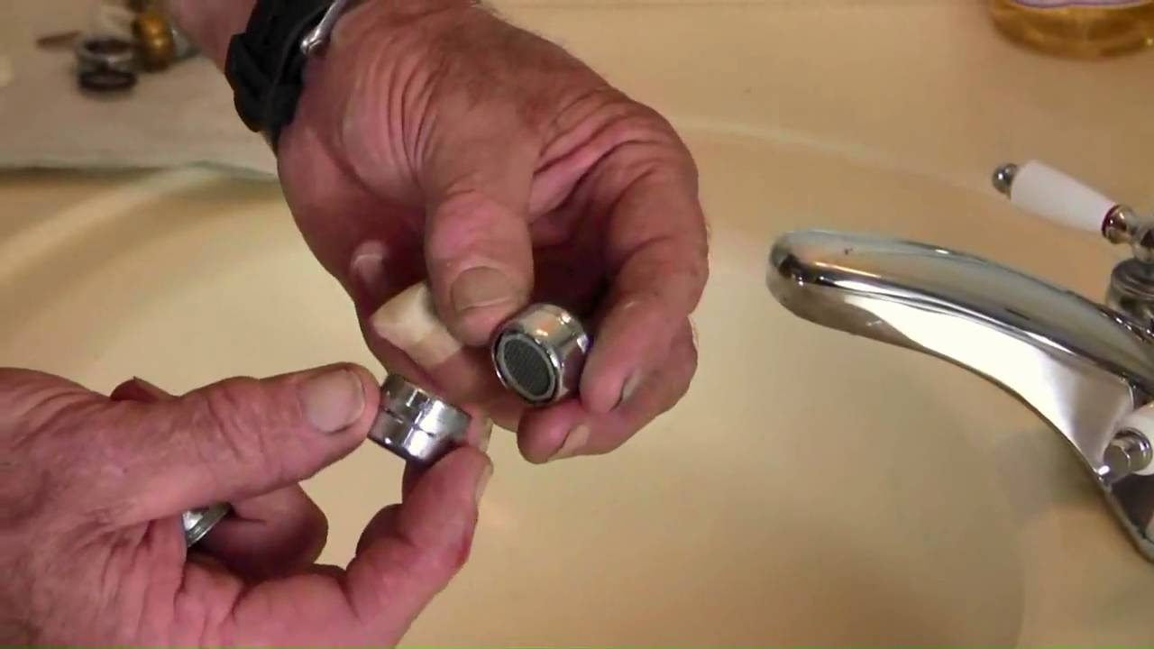 sink faucet aerator assembly.  How to Replace a Sink Aerator YouTube