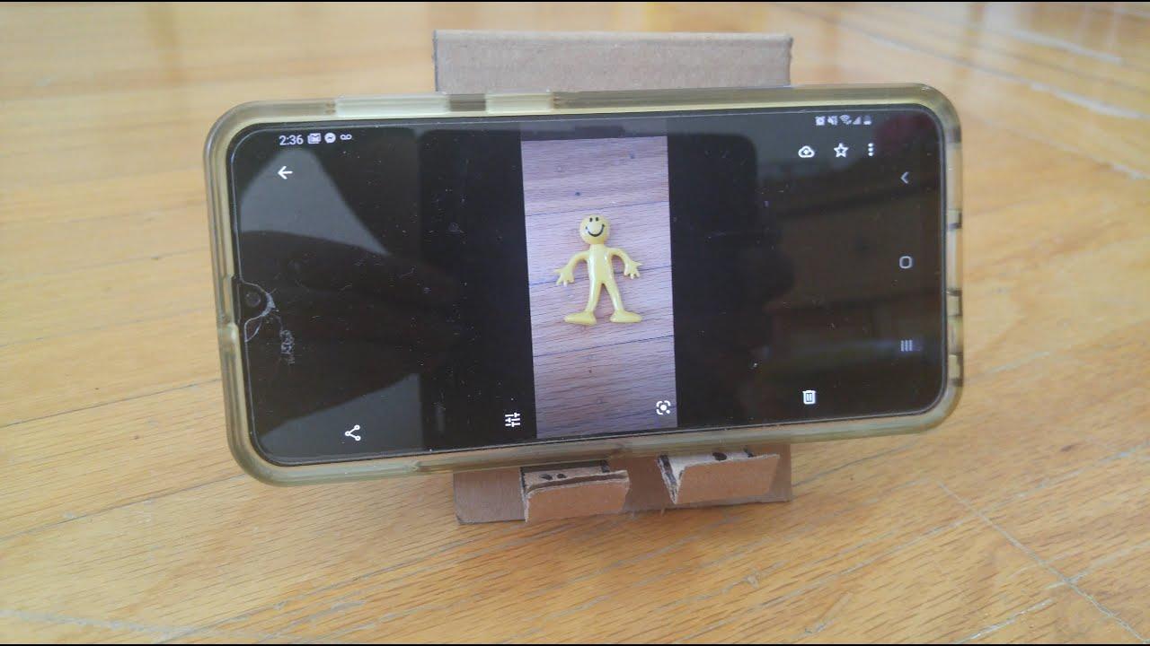 how to make a cardboard phone holder  youtube