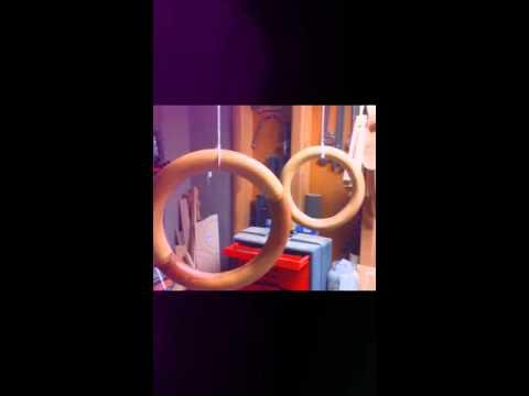 Gymnastics rings (wood)