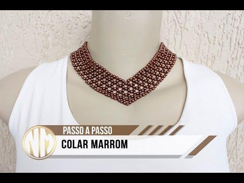 NM Bijoux - Colar Marrom
