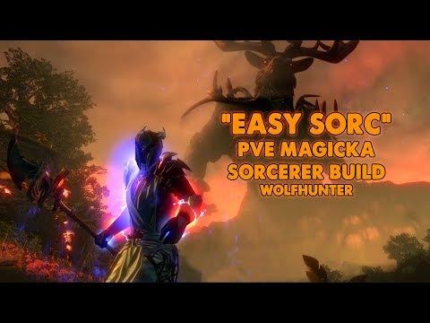 ESO - EASY SORC - Magicka Sorcerer PVE Build - (WolfHunter)