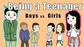 (Animasyon skeç)Kızlar vs ergenlik - Çocuklar