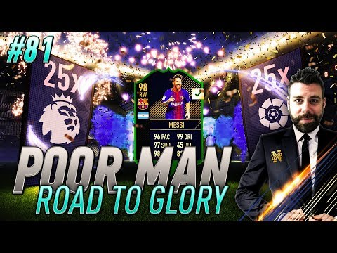 TOTY PACK OPENING and WE GET TOTY 98 MESSI!!!!  - Poor Man RTG #81 - FIFA 18 Ultimate Team