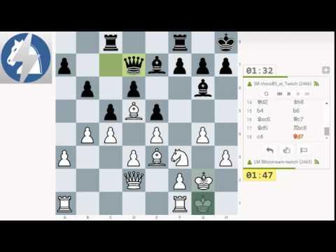 Parties d'échecs commentées en direct #6 4 parties contre le MI ChessBS