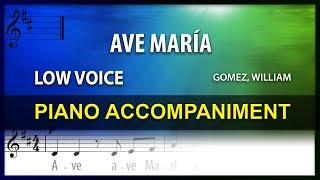 Ave María Karaoke William Gomez Low Voice