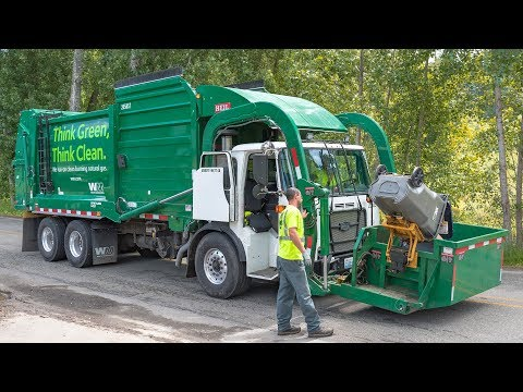 Garbage Trucks: Waste Management | Brem-Air Disposal - YouTube