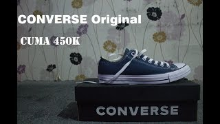 Unboxing & review Converse Original Chuck Taylor All Stars Classic - Low Top Navy