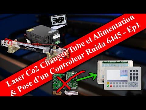 Laser Co2 - Remplacement de tube et installation d'un contrôleur Ruida 1/2