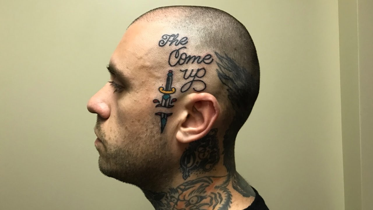 Face Neck  tattoo