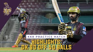 Dinesh Karthik highest scorer in KKR first Practice Match - IPL 2021