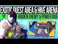Destiny 2 | EXOTIC QUEST AREA & SECRET ENEMY! Wish Ender, Power Glitch, Curse Reset & Hive Arena!