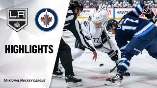NHL Highlights | Kings @ Jets 10/22/19