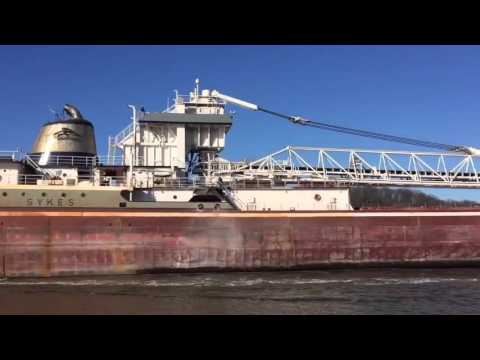 Freighter Wilfred Sykes leaving Grand Haven