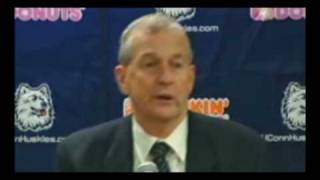 Jim Calhoun Freaks Out  on A Reporter Bill O'Reilly Style!  (2/21/09)