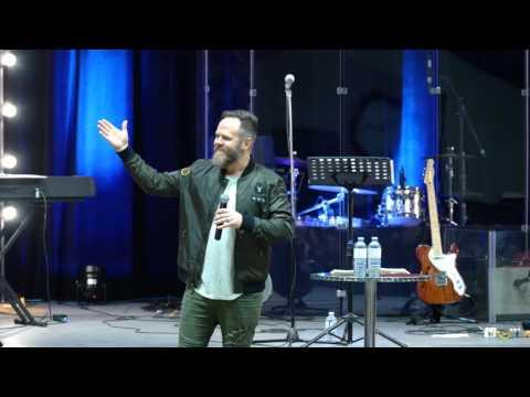 Jon Daniel speaking to Oceanside Church Nanaimo