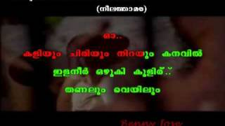 Anuraga vilochananayi  Song with display lyrics in Malayalam .. Neelathamara .. Karaoke