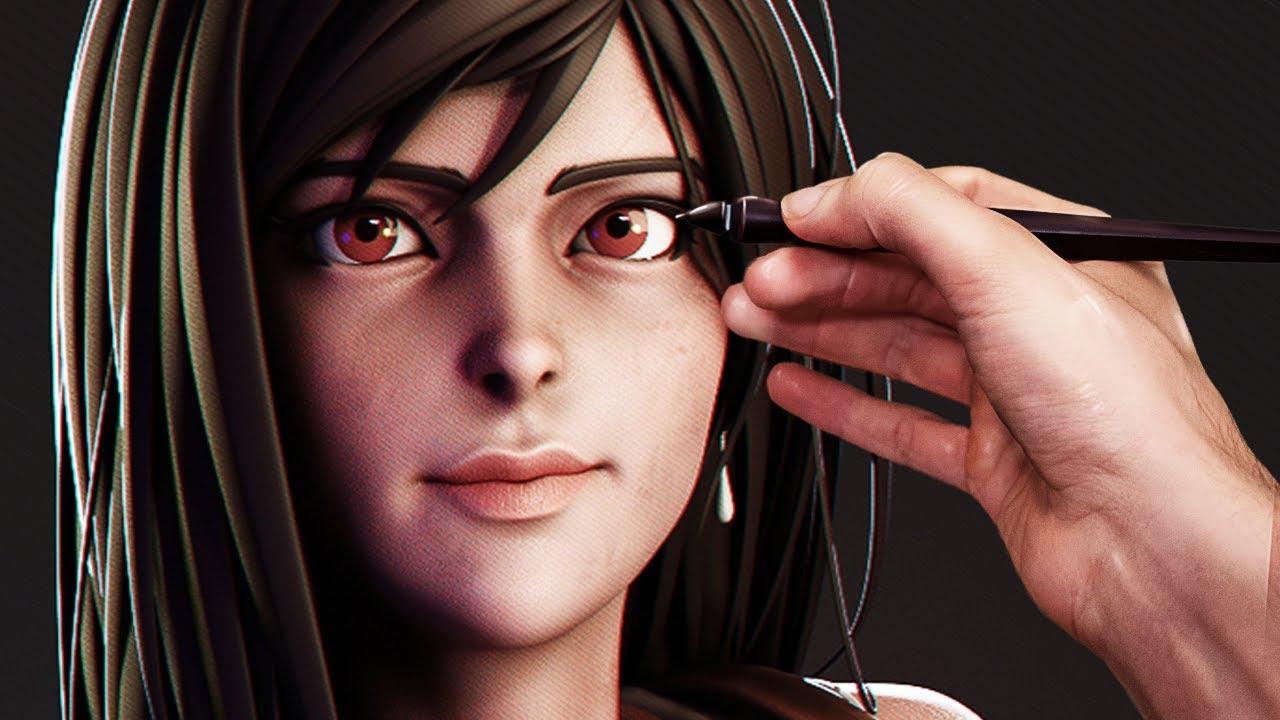 Sculpting Tifa Lockhart From Final Fantasy 7