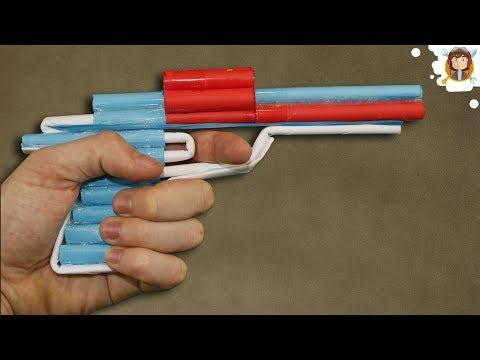 Como Hacer una Pistola de Papel que Dispare - Revolver