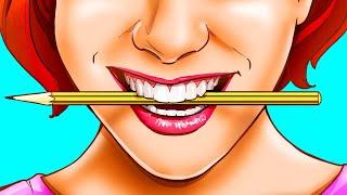 Возьмите карандаш в рот, чтобы стресс моментально испарился