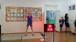 Гиревой спорт. Юданова Анастасия Цикл 12кг: 5минут