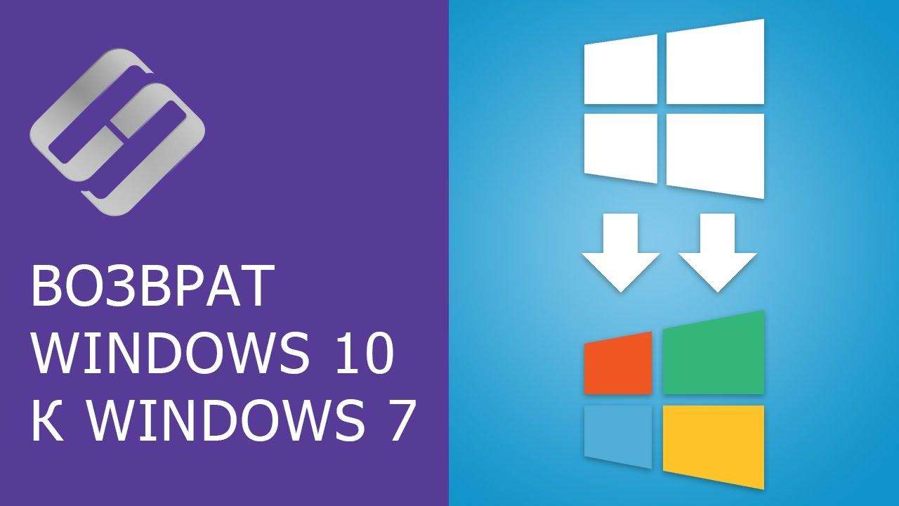 Как откатить систему Windows 10, 8 к Windows 7 ???
