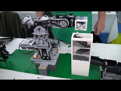 LEGO great ball contraption Rube Goldberg machine – BrickFair New England 2015
