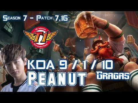 SKT T1 Peanut GRAGAS vs ELISE Jungle