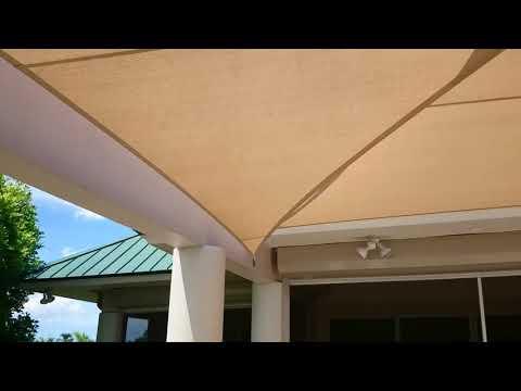 Shade sail patio project.