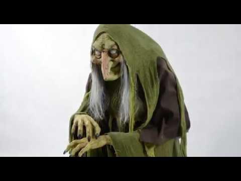 rising swamp hag animated prop halloween decoration trendyhalloweencom youtube