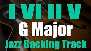 Jazz Backing Track - 1-6-2-5 Progression - G major