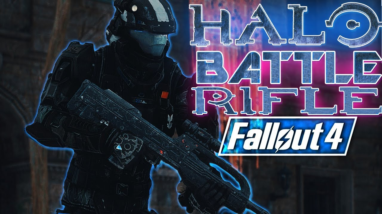Fallout 4 - BR77 - HALO Battle Rifle 77 (Fallout 4 Mods)