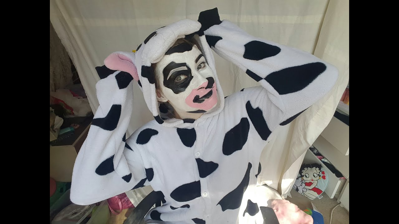 Cow costume makeup tutorial belinda mcdonald youtube baditri Gallery