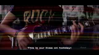 Green Day - Holiday (instrumental cover) - Lyrics on screen