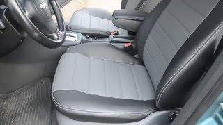 Авточехлы из экокожи Avto-Mania для Audi A6 седан С5 задняя спинка деленная 1997-2004, обзор чехлов