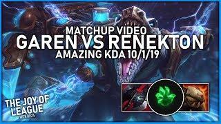 riste - Grasp of the Undying Garen vs Renekton | Amazing KDA ~ 10/1/19 - League of Legends