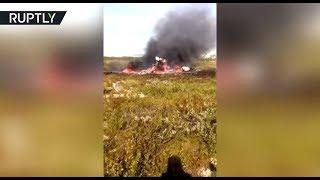 Опубликовано видео с места крушения вертолёта Ми-8 в Красноярском крае