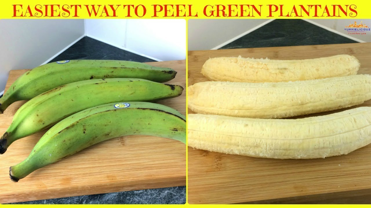 Download How to Peel Green Plantains | Easiest Way to Peel Unripe Plantains | Yummieliciouz Food Recipes