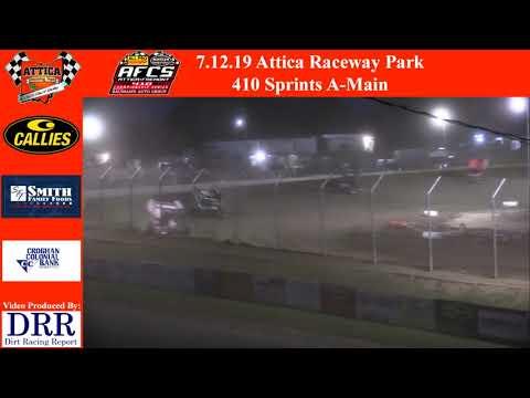 7.12.19 Attica Raceway Park 410 Sprints A-Main