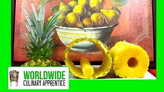 Peeling and Carving a Pineapple - How to Peel a Pineapple