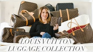 HUGE LOUIS VUITTON LUGGAGE COLLECTION