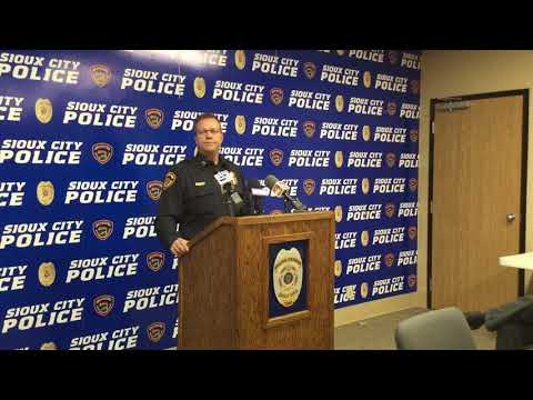 Sioux City Police press conference on investigation into submerged vehicle