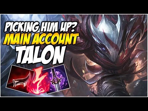 PICKING UP TALON? - Climb to Master S8 | League of Legends