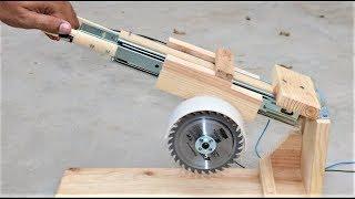 How to Make a Useful SAW MACHINE - DIY Miter Saw
