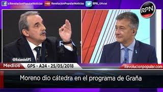 Moreno dio cátedra en el programa de Graña