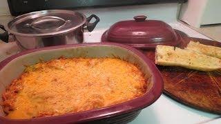 Organic/natural Vegetarian Spaghetti Bake.
