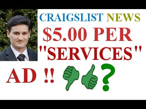 Ridiculous ! ! Craigslist Charging $5 For Ads ...