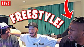 Adin Ross Freestyles With Zias & B Lou! (Funny)